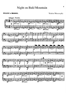 Eine Nacht auf dem kahlen Berge: Cello- und Kontrabassstimmen by Modest Mussorgski
