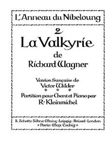 Die Walküre, WWV 86b: Klavierauszug mit Singstimmen by Richard Wagner