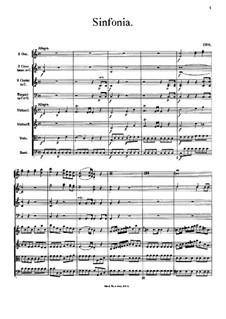 Sinfonia in C-Dur: Vollpartitur by Johann Georg Albrechtsberger