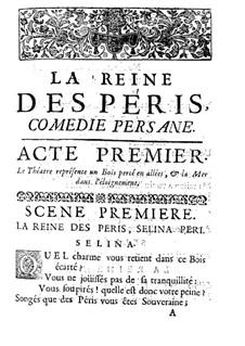 La Reine des Péris: Libretto by Jacques Aubert