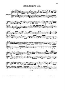 Konzert für Cembalo und Streicher Nr.4 in A-Dur, BWV 1055: Bearbeitung für Klavier, vierhändig by Johann Sebastian Bach