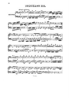 Konzert für Cembalo und Streicher Nr.3 in D-Dur, BWV 1054: Bearbeitung für Klavier, vierhändig by Johann Sebastian Bach