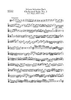 Orchestersuite Nr.1 in C-Dur, BWV 1066: Bratschenstimme by Johann Sebastian Bach