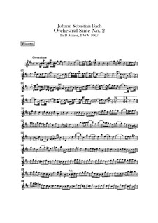 Orchestersuite Nr.2 in h-Moll, BWV 1067: Flötenstimme by Johann Sebastian Bach