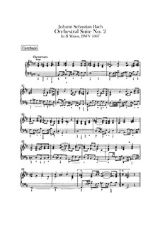 Orchestersuite Nr.2 in h-Moll, BWV 1067: Cembalostimme by Johann Sebastian Bach