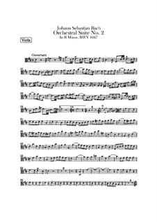 Orchestersuite Nr.2 in h-Moll, BWV 1067: Bratschenstimme by Johann Sebastian Bach