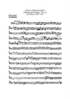 Orchestersuite Nr.2 in h-Moll, BWV 1067: Cello- und Kontrabassstimmen by Johann Sebastian Bach