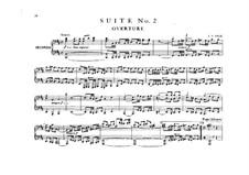 Orchestersuite Nr.2 in h-Moll, BWV 1067: Version für Klavier, vierhändig by Johann Sebastian Bach