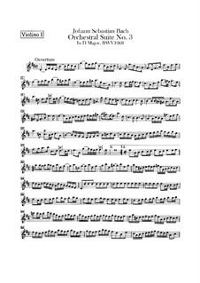 Vollständiger Zyklus: Violinstimme I by Johann Sebastian Bach