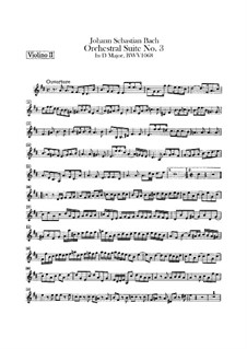 Vollständiger Zyklus: Violinstimme II by Johann Sebastian Bach