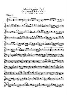 Orchestersuite Nr.4 in D-Dur, BWV 1069: Oboenstimmen by Johann Sebastian Bach