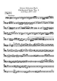 Orchestersuite Nr.4 in D-Dur, BWV 1069: Fagottstimme by Johann Sebastian Bach