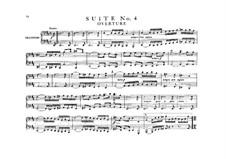 Orchestersuite Nr.4 in D-Dur, BWV 1069: Bearbeitung für Klavier, vierhändig by Johann Sebastian Bach