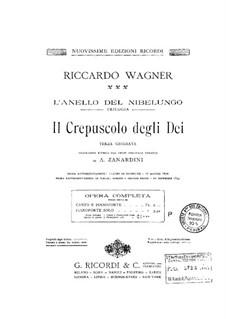 Götterdämmerung, WWV 86d: Bearbeitung für Klavier by Richard Wagner