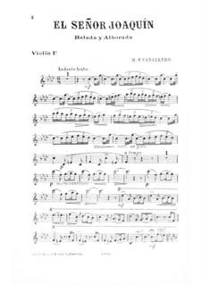 El Señor Joaquín: Violinstimme I by Manuel Fernández Caballero