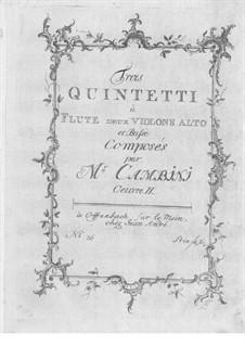 Drei Quintette für Flöte und Streicher, Op.9: Drei Quintette für Flöte und Streicher by Giuseppe Maria Cambini