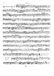 Sechs Quartette für Flöte, Violine, Bratsche und Cello, T. 145-150: Cellostimme by Giuseppe Maria Cambini