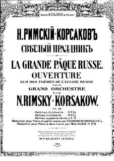 Russische Ostern, Op.36: Für Klavier by Nikolai Rimsky-Korsakov