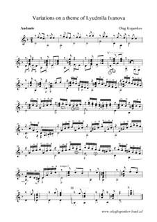 Variations on Theme of Lyudmila Ivanova, Op.7: Variations on Theme of Lyudmila Ivanova by Oleg Kopenkov