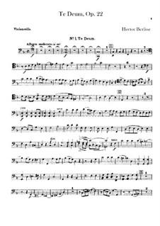 Te Deum, H.118 Op.22: Cellosstimme by Hector Berlioz