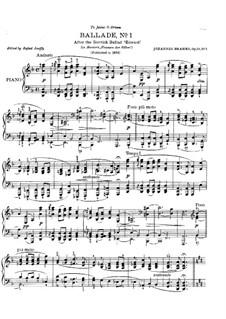 Vier Balladen, Op.10: Ballade Nr.1 by Johannes Brahms