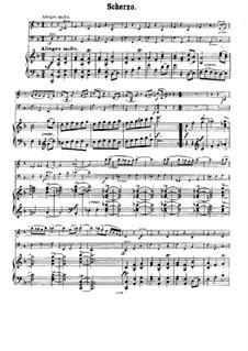 Streichsextett Nr.1 in B-Dur, Op.18: Teil III. Version für Klaviertrio by Johannes Brahms