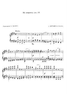 Streichquartett Nr.14 in cis-Moll, Op.131: Presto, für Klavier by Ludwig van Beethoven