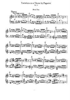 Variationen über ein Thema von Paganini, Op.35: Heft II by Johannes Brahms