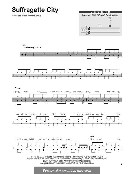 Suffragette City: Drum set by David Bowie