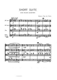 Short Suite for Brass Quartet: Vollpartitur by Nancy Van de Vate