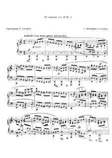 Streichquartett Nr.9 in C-Dur, Op.59 No.3: Fragment, für Klavier by Ludwig van Beethoven