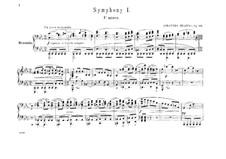Sinfonie Nr.1 in c-Moll, Op.68: Version für Klavier, vierhändig by Johannes Brahms