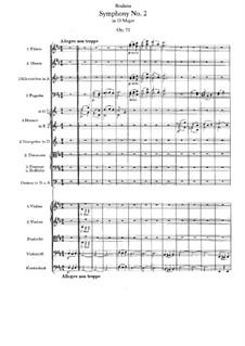 Vollständiger Satz: Partitur by Johannes Brahms