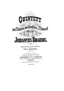 Streichquintett Nr.1 in F-Dur, Op.88: Version für Klavier by Johannes Brahms