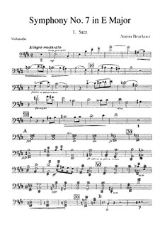 Sinfonie Nr.7 in E-Dur, WAB 107: Cellostimme by Anton Bruckner