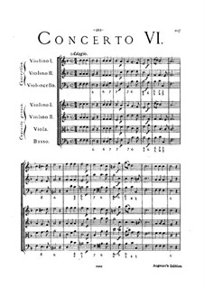 Concerto Grosso Nr.6: Partitur by Arcangelo Corelli