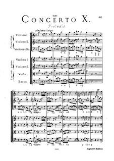 Concerto Grosso Nr.10: Partitur by Arcangelo Corelli