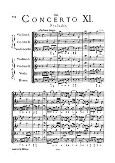 Concerto Grosso Nr.11: Partitur by Arcangelo Corelli