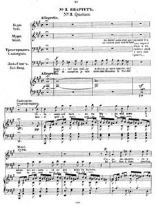 Der Sohn des Mandarin: Nr.3 Quartett by César Cui