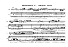 Quiet Movements No.11 for Piano and Bassoon, MVWV 616: Quiet Movements No.11 for Piano and Bassoon by Maurice Verheul