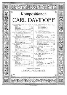 Romanze ohne Worte, Op.23: Version für Violine und Klavier by Karl Dawidow