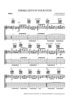 Smoke Gets in Your Eyes (from 'Roberta'): For acoustic guitar with tab by Jerome Kern