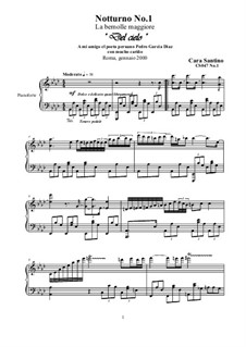 Two Nocturnes for Piano, CS047: Two Nocturnes for Piano by Santino Cara