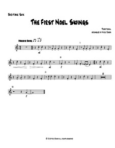 The First Noel Swings: For wind quartet – baritone saxophone part by folklore