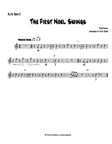The First Noel Swings: For wind quartet – alto sax 2 part by folklore