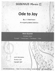 Ode an die Freude: Version for wind quartet by Ludwig van Beethoven