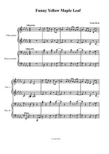 Funny Yellow Maple Leaf: Für Klavier, vierhändig by Lena Orsa