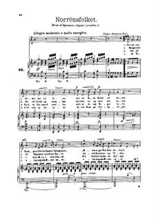 Sigurd Jorsalfar, Op.22: Norrønafolket and Kongekvadet, for Voices and Piano by Edvard Grieg