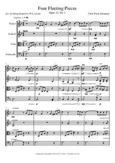 Four Fleeting Pieces: Four Fleeting Pieces by Clara Schumann
