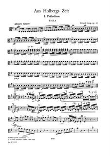 Aus Holbergs Zeit, Op.40: Für Streichorchester – Bratschenstimme by Edvard Grieg